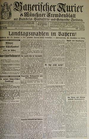Landtagswahlen in Bayern, in: BAYERISCHER KURIER, 6. Dez. 1918 (Nr. 339, 62. Jg.). Münchner ...