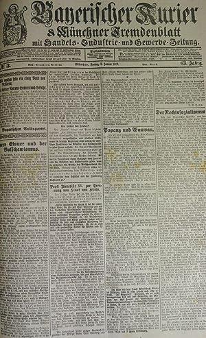 Herr Eisner und der Bolschewismus, in: BAYERISCHER KURIER, 3. Jan. 1919 (Nr. 3, 63. Jg.). Mü...