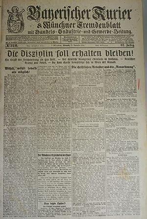 Die christlichen Arbeiter und die Neuordnung, in: BAYERISCHER KURIER, 13. Nov. 1918 (Nr. 316, 62. ...