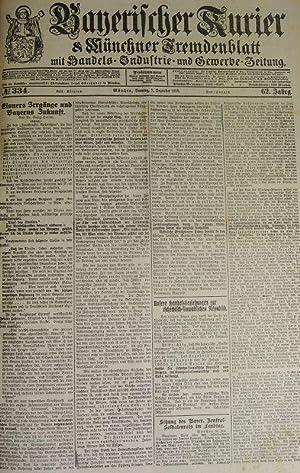 Eisners Irrgänge und Bayerns Zukunft (Schluß), in: BAYERISCHER KURIER, 1. Dez. 1918 (Nr....