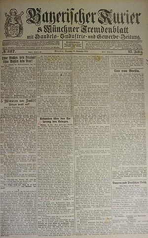 Urkunden über den Ursprung des Krieges, in: BAYERISCHER KURIER, 24. Nov. 1918 (Nr. 327, 62. Jg...