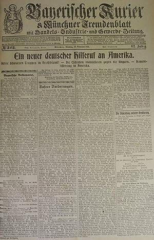 Keine schwarzen Truppen in Deutschland, in: BAYERISCHER KURIER, 19. Nov. 1918 (Nr. 322, 62. Jg.). M...