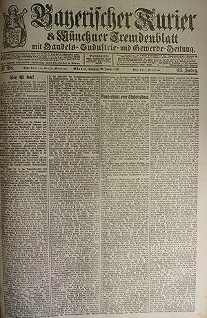 Bundesstaat oder Einheitsstaat, in: BAYERISCHER KURIER, 28. Jan. 1919 (Nr. 28, 63. Jg.). Mü...