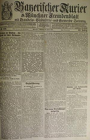 Das neue Verfassungsnotgesetz, in: BAYERISCHER KURIER, 29. Jan. 1919 (Nr. 29, 63. Jg.). Mü...