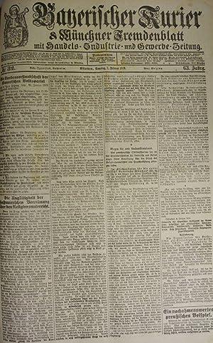 Der Anschluß Deutsch-Österreichs, in: BAYERISCHER KURIER, 1. Feb. 1919 (Nr. 32, 63. Jg.)...