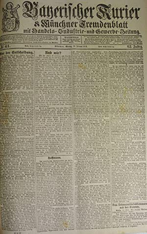 Das Lebensmittelabkommen mit der Entente, in: BAYERISCHER KURIER, 10. Feb. 1919 (Nr. 41, 63. Jg.). ...