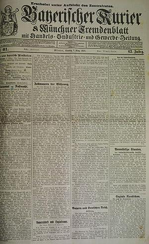 Bauernschaft und Sozialismus, in: BAYERISCHER KURIER, 2. März 1919 (Nr. 61, 63. Jg.). Mü...