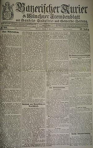 Das Rätesystem (I), in: BAYERISCHER KURIER, 31. März 1919 (Nr. 90, 63. Jg.). Mü...
