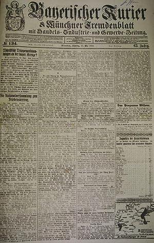 Die Nationalversammlung zum Friedensvertrag, in: BAYERISCHER KURIER, 13. Mai 1919 (Nr. 134, 63. Jg....