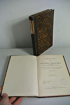 Generalregister zu den Neueren Sprachen. 3 Bände. Bd. I: Bd. I-VI; Bd. 2: Bd. VII-XII; Bd. 3: ...