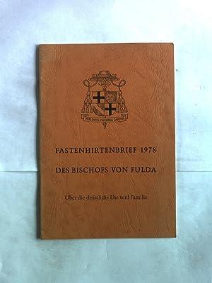Fastenhirtenbrief 1978 des Bischofs von Fulda. Über: Schick, Eduard: