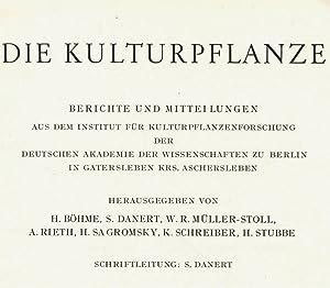 Eiweißuntersuchungen am Getreide- und Leguminosen-Sortiment Gatersleben. Teil: Lehmann, Ch.O.: