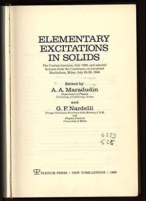 Elementary Excitations in Solids. The Cortina Lectures,: Maradudin, A. A.
