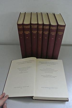 Johann Jakob Bachofens gesammelte Werke. Bd. I-IV,: Bachofen, Johann Jakob