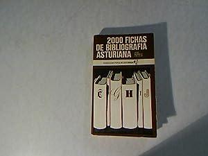 2.000 fichas de bibliografia asturiana. Coleccion Popular: Calleja, Jose Alvarez: