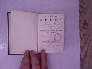 Platonis Opera. Cum scholiis a Rhunkenio collectis.: Platon: