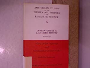 Word Order Typology and Comparative Constructions. Amsterdam: Andersen, Paul Kent: