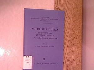 M. Tulli Ciceronis Epistulae ad quintum fratrem.: Cicero, Marcus Tullius