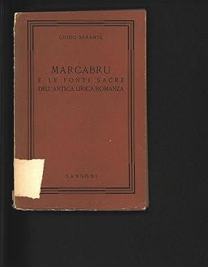 Marcabru e le fonti sacre dell'antica lirica: Errante, Guido: