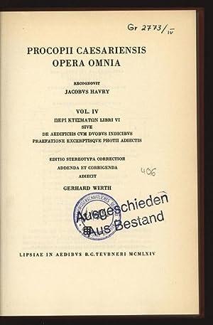 Procopii Caesariensis opera omnia. IV.: Caesariensis, Procopius, Jacob