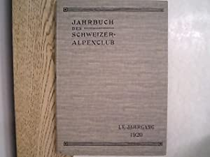 Jahrbuch des Schweizer Alpenclub. 55. Jg. (1920).: Schweizer Alpenclub [Hrsg.]:
