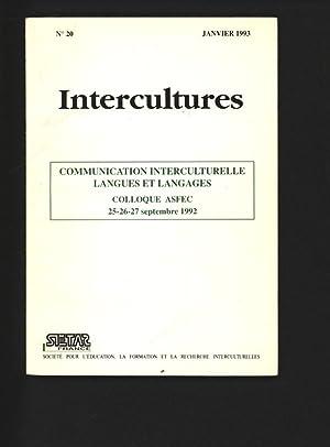 Communication Interculturelle Langues et Langages, Colloque ASFEC,