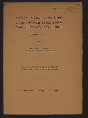 Opgave van geschriften ober geologie en Mijnbouw: Verbeek, R. D.