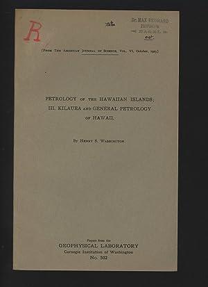 Petrology of the Hawaian Islands: III. Kilauea: Washington, Henry S.: