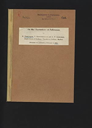 On the Charnockites of Pallavaram.: Narayanan, K., V.