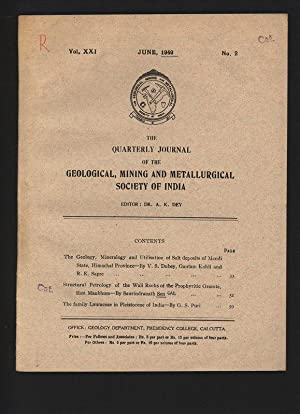 The Geology, Mineralogy and Utilisation of Salt: Dubey, V. S.,