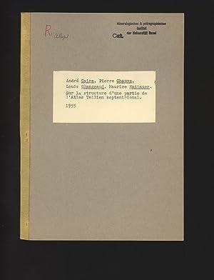 Sur la structure d'une partie de l'Atlas: Caire, Andre, Pierre