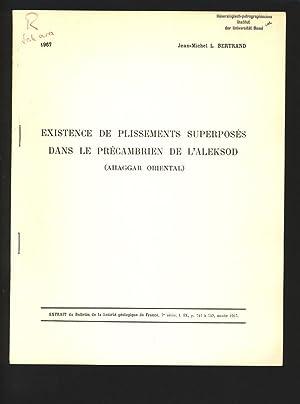 Existence de plissements superposes dans le precambrien: Bertrand, Jean Michel