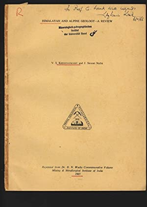 Himalayan and Alpine Geology. A Review. Reprinted: Krishnaswamy, V. S.