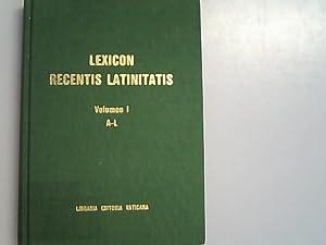 Lexicon Recentis Latinitatis: Editum cura operis fundati: Labraria, Editoria Vaticana,