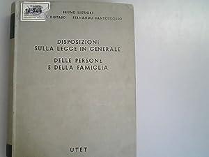 Disposizioni sulla legge in generale : delle: Liguori, Bruno, Nicola