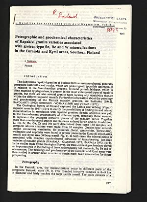Petrographic and geochemical characteristics of Rapakivi granite: Haapala, Ilmari,