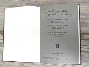 Zum 150. Gedenktag von Schillers Antrittsvorlesung. Jenaer: Wesle, Carl und