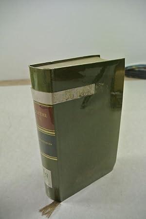 Übertragungen. Gedenkausgabe der Werke, Briefe und Gespräche.: Goethe, Johann Wolfgang