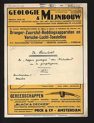 """De """"Diepere geologie"""" van Nederland en de: Reinhold, Th.,"""