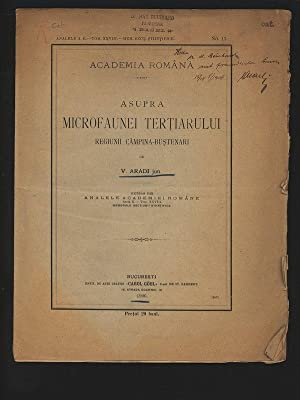 Asupra Microfaunei Tertiarului Regiunii Campina-Bustenari. Extras din: ARADI JUN., V.,