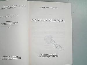 Esquisses Linguistiques. Prace Jezykoznawcze, 19.: Kurylowicz, Jerzy,