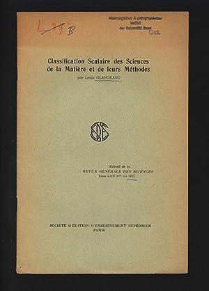 Classification Scalaire des Sciences de la Matiere: GLANGEAUD , Louis: