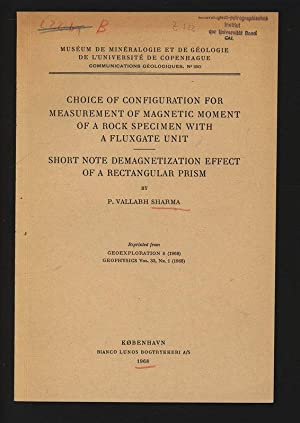 Choice of Configuration for Measurement of Magnetic: Sharma, P. Vallabh,