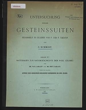 UNTERSUCHUNG EINIGER GESTEINS SUITEN GESAMMELT IN CELEBES: SCHMIDT, C.: