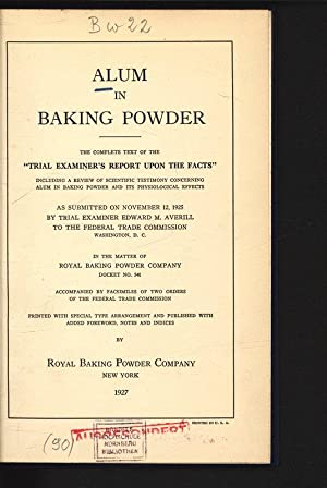 Alum in Baking Powder. The Complete Text