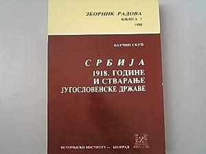Naucni skup Srbija 1918. godine i stvaranje: Aleksic, Ljiljana, Danica
