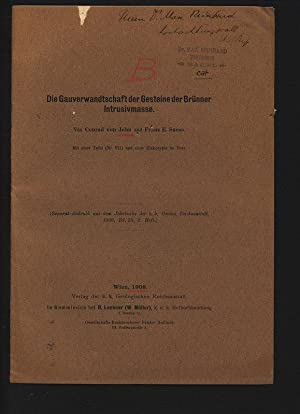 Die Gauverwandtschaft der Gesteine der Brünner Intrusivmasse.: JOHN, Conrad: