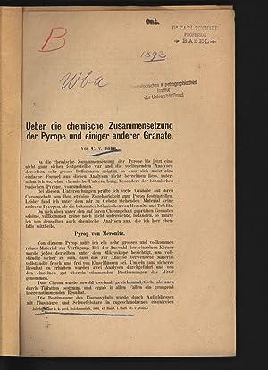 Ueber die chemische Zusammensetzung der Pyrope und: JOHN, Conrad: