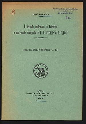 Il deposito quaternario di Cotencher e una: LEONARDI, Piero: