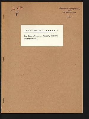 The Excavation at Velsen, General Introduction.: VAN STRAATEN, L.M.J.U:
